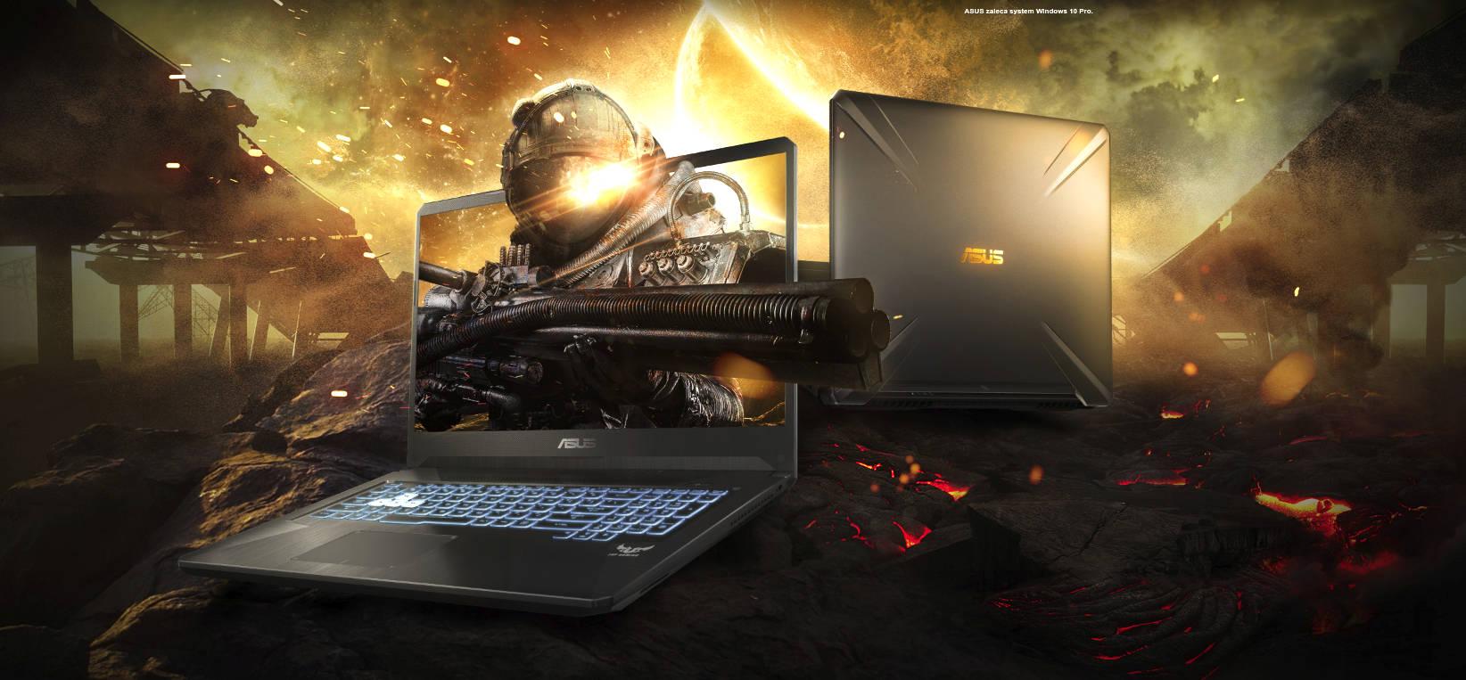 ASUS wprowadza wytrzymałe laptopy gamingowe FX505 i FX705 z MIL-STD-810G