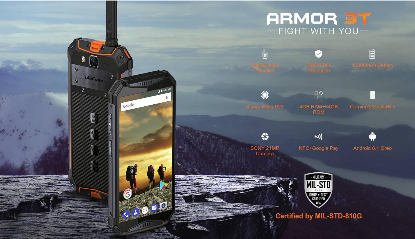 Ulefone Armor 3T – smartfon do zadań specjalnych z walkie-talkie