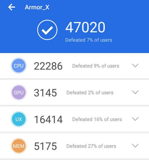 Ulefone Armor X - Antutu