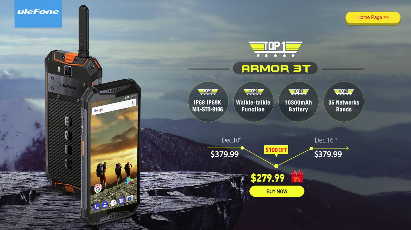 Ulefone Armor 3T, smartfon z walkie-talkie, już w sprzedaży i w promocji