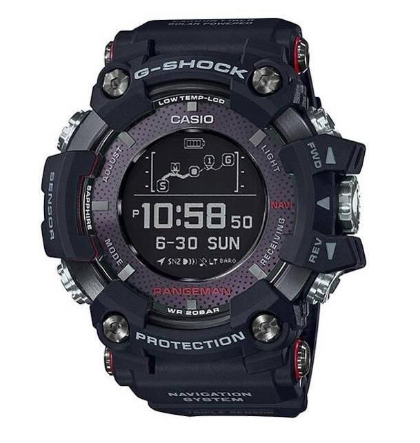 f5f3cbe8cc5687 Rangeman GPR-B10 jest duży (szerokość 57,7 mm) i gruby (20,2 mm), swoje też  waży (142 g), więc nie jest to zegarek dla każdego. Koperta wykonana  została ze ...