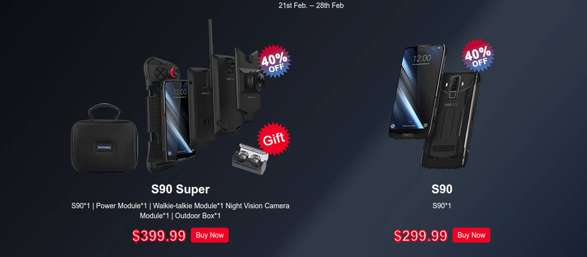 DOOGEE S90 w końcu w normalnej sprzedaży, w cenie jak na Kickstarterze