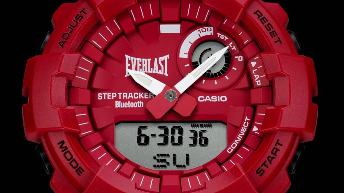 Czerwony G-SHOCK GBA800EL-4A Everlast: dla fanów boksu