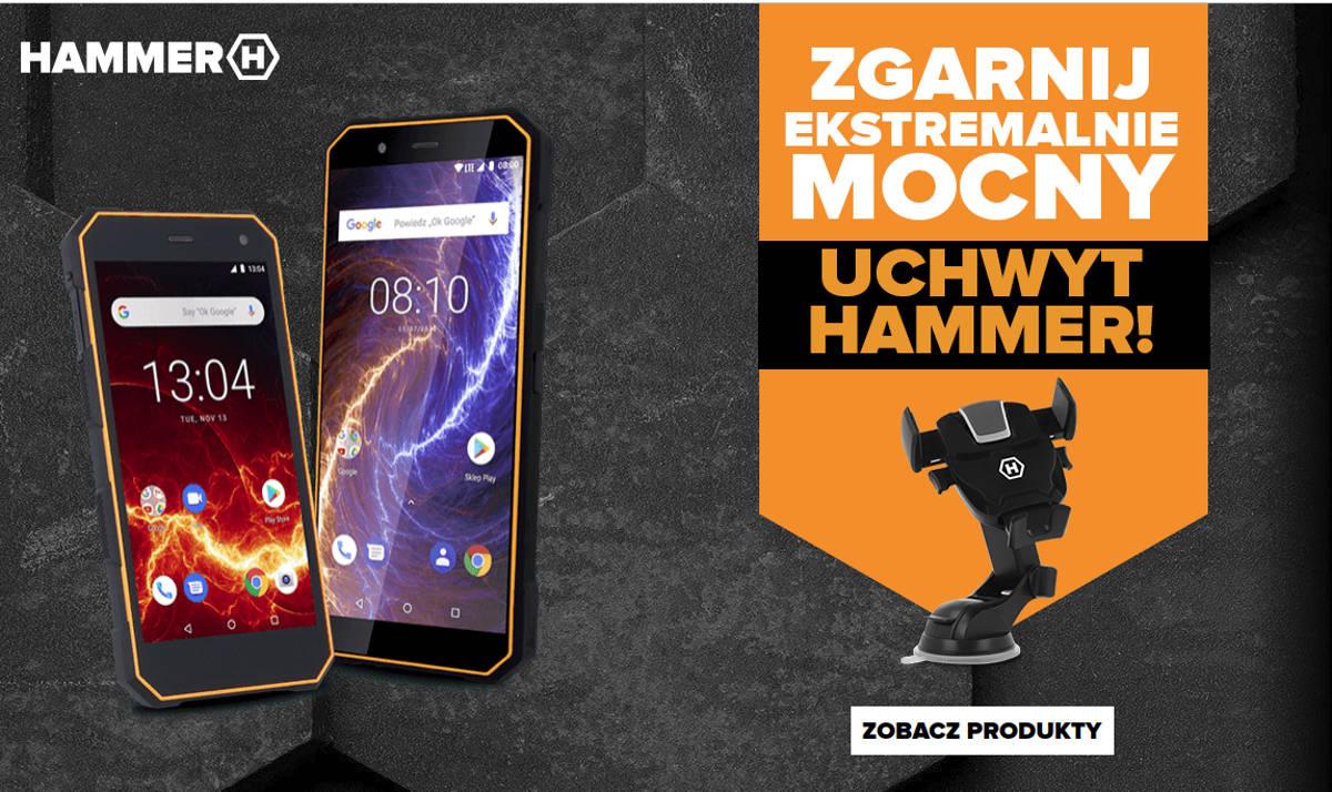 Promocja marki HAMMER: zgarnij uchwyt samochodowy gratis