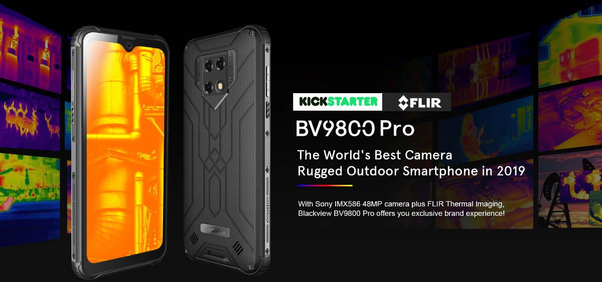 Blackview BV9800 Pro z aparatem 48 Mpix i kamerą FLIR niedługo pojawi się w kampanii na Kickstarterze