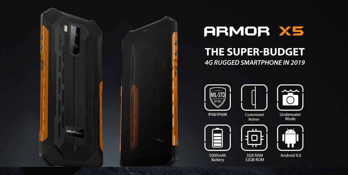 Ulefone Armor X5 - nowy pancernik z LTE i NFC za 400 zł