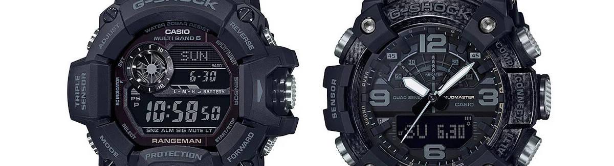 G-SHOCK Rangeman GW-9400 i Mudmaster GG-B100 w czarnych wersjach Black Out