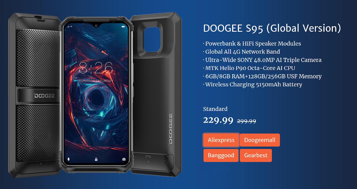 """DOOGEE S95 – """"światowa premiera"""", czyli promocja na AliExpress"""
