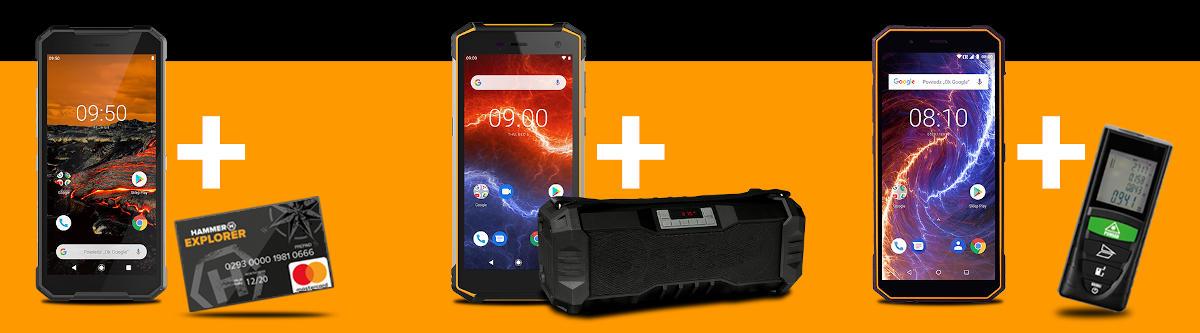 HAMMER: kup smartfon, dostaniesz gratis radio budowlane, dalmierz laserowy lub kartę zakupową