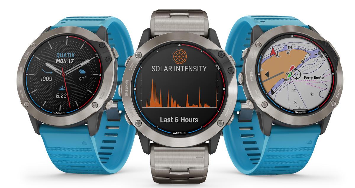 Garmin quatix 6X Solar – żeglarski smartwatch z ładowaniem solarnym