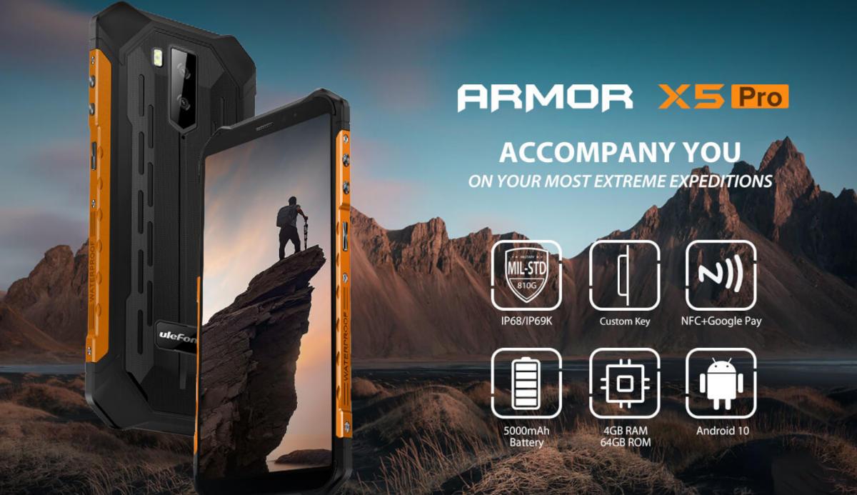 Ulefone Armor X5 Pro – czyli kolejny budżetowy model podrasowany do Pro